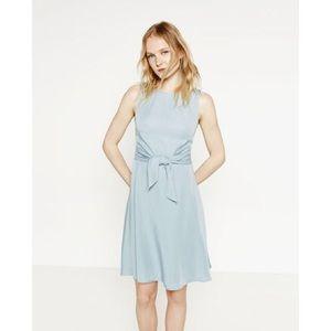Zara Dresses - Zara Denim Couture Waist Tie Mini Dress damaged